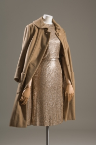 Norman Norell, evening set, cashmere, silk jersey, sequins, circa 1958, USA. Gift of Lauren Bacall.