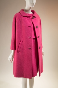 Norman Norell, coat and two-piece dress designed for Sex and the Single Girl, wool, rhinestones, 1965, USA. Gift of Lauren Bacall