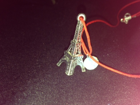 Closer look of Paris necklace